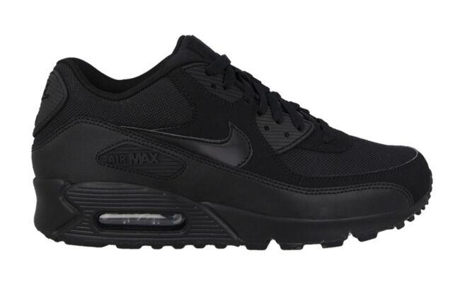 Nike Air Max 90 Essential Shoes SNEAKERS Trainers Leather Men\u0027s Black/black  UK 9 EUR