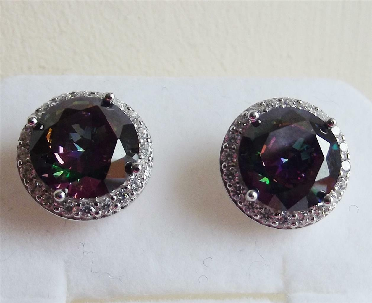 birthstone mystic fashion earrings handmade sterling gemstone stud topaz midnight il awesome silver