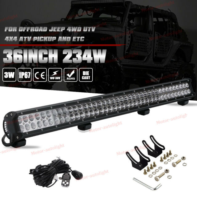36inch 234w led light bar offroad work driving lamp spot flood 4wd 36 inch cree led light bar wwiring kit for ford chevy gmc toyota off aloadofball Gallery