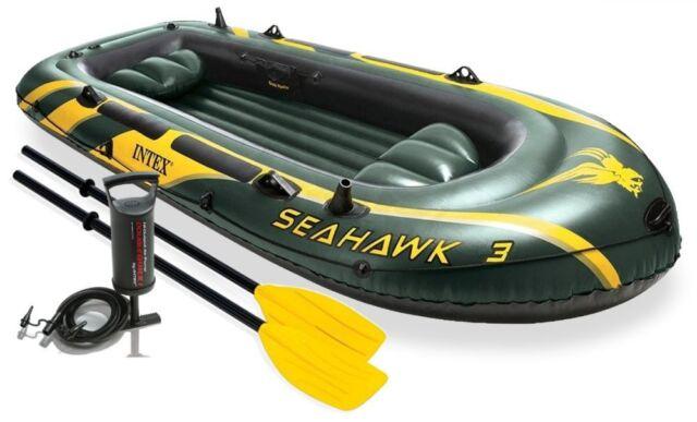 Intex Schlauchboot Set Seahawk 3 - + Paddel + Hand Pumpe 68349