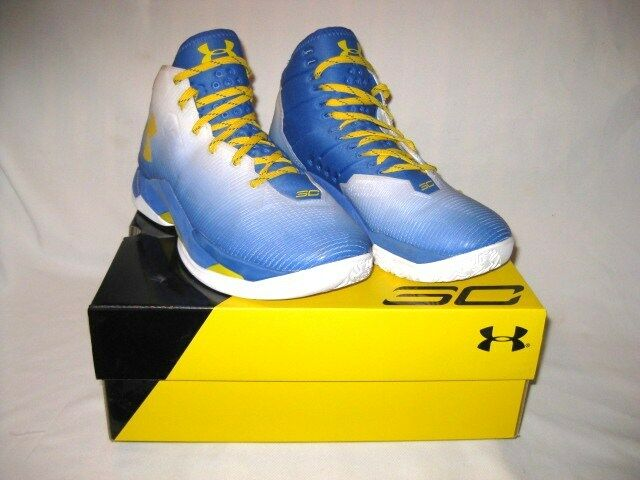 Under Armour UA Curry 2.5 Basketball Shoes Size 10 Blue Yellow White  1274425-103 | eBay