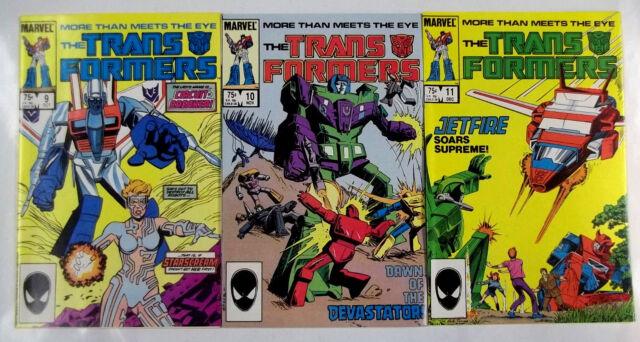 The Transformers (1985) #9,10,11 [9.2] 1st print- 1st App. of Jetfire #11