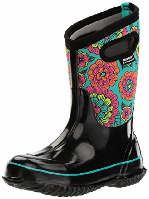 Bogs Unisex-Kids Classic Pansies Snow Boot