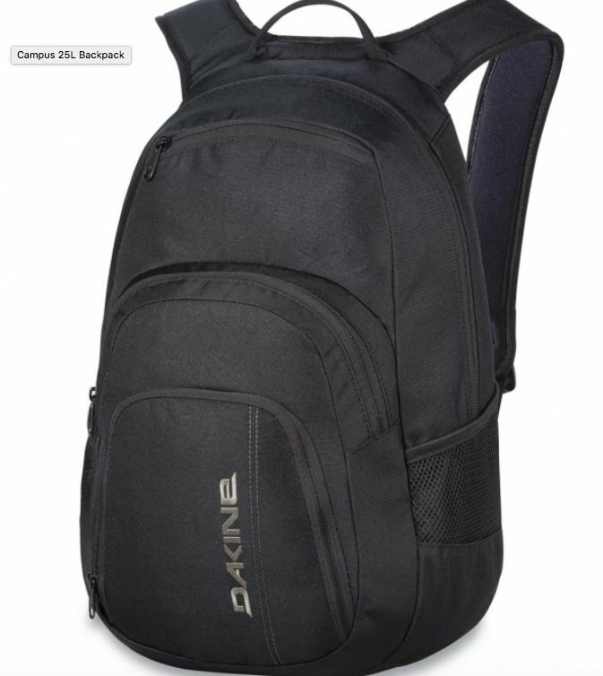 DAKINE Campus 25l Backpack Black Rucksack 08130056 Official ...