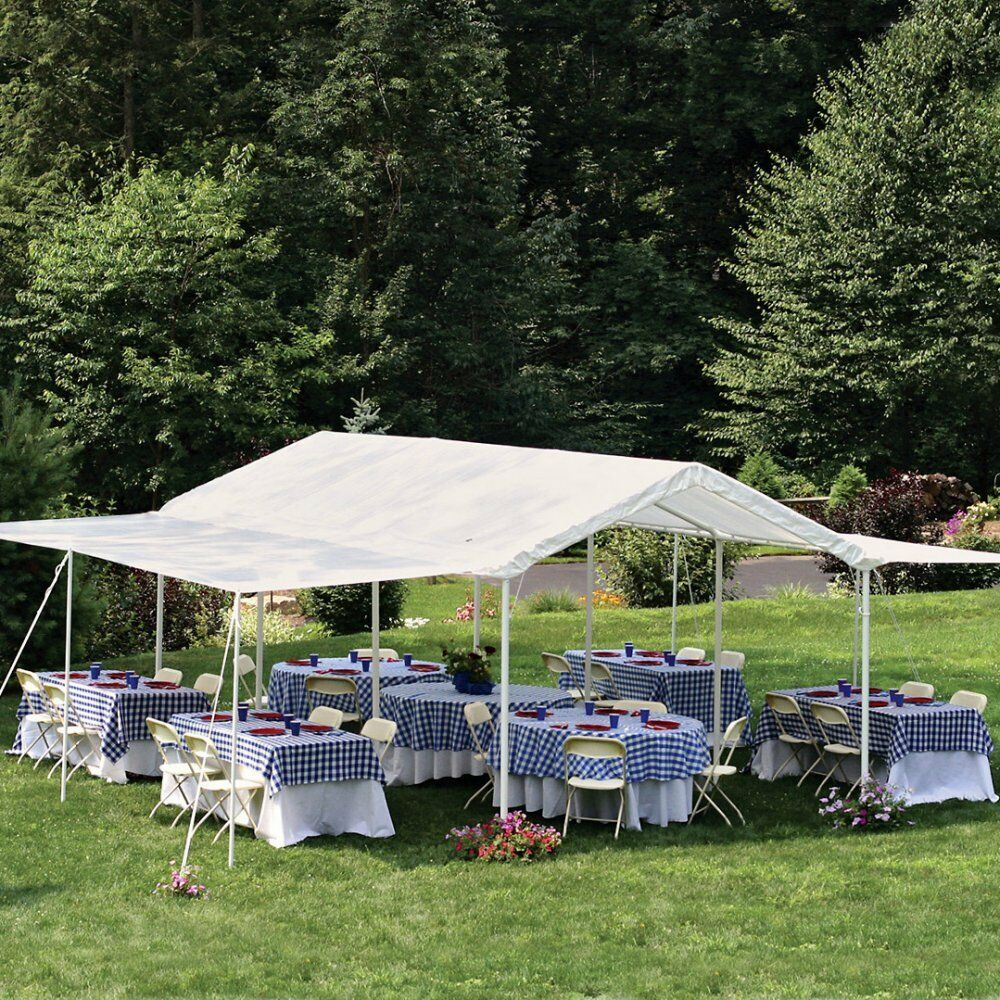 Picture 1 of 9 ... & Canopy Party Tents Outdoor Wedding Tent Sun Shelter White 20 X 10 ...