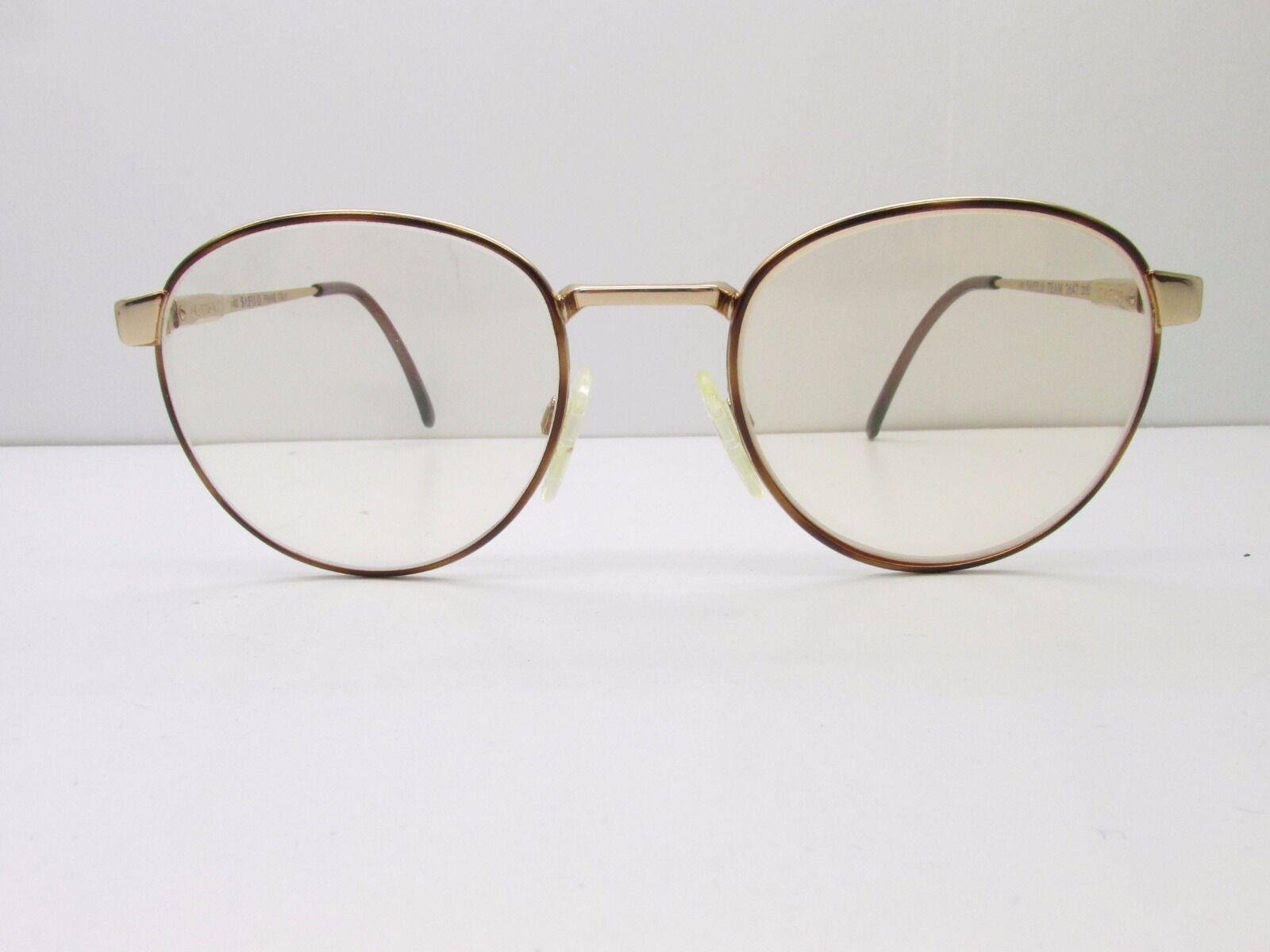 Safilo Team 3647 Eyeglasses Frames 51-20-140 Gold Tortoise Round Tv6 ...