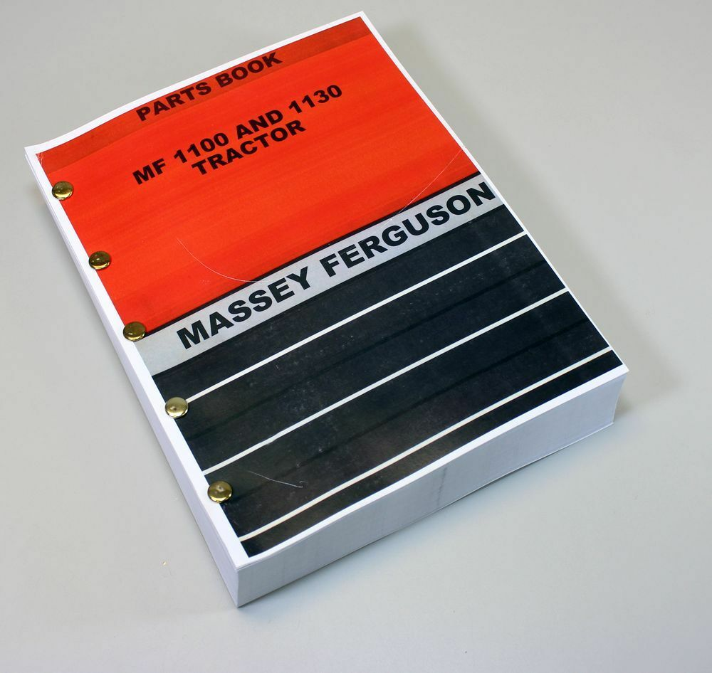 Massey Ferguson MF 1100 1130 Tractor Parts Catalog Manual Assembly ...