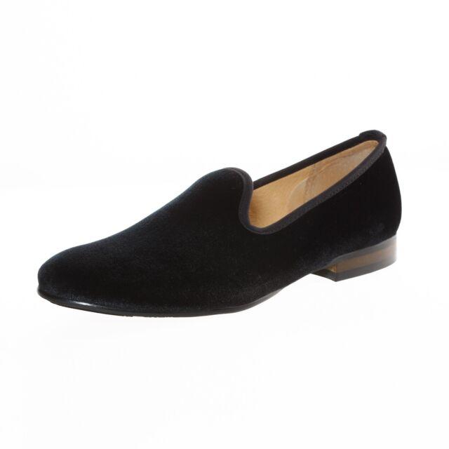 Men Plain Velvet Slippers Loafers Wedding Dress Shoes Slip on Prom ...