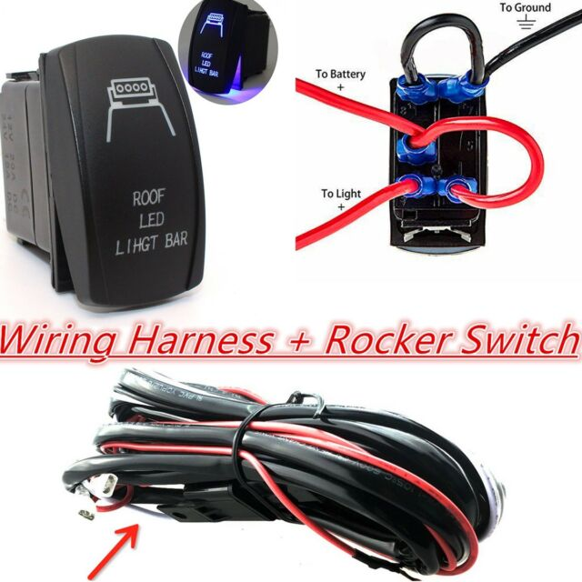 12v 4x4 offroad roof led light bar wiring harness laser rocker 12v 4x4 offroad roof led light bar wiring harness laser rocker switch controller aloadofball Choice Image