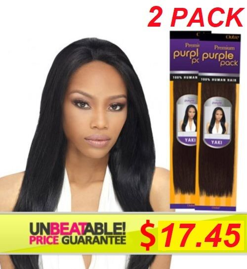 Outre Purple Pack 155 Human Hair Weave 155s 15b | eBay