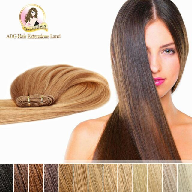 20 100 Indian Remy Weft Hair Extension Double Drawn 50g Brown