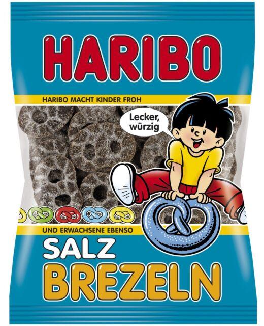 (100g=0,50€) Haribo Salz Brezeln - Lakritz Salzbrezel - 200 Gramm