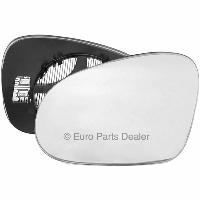 Passenger side Clip on heated wing door mirror glass for VW Golf mk5 2003-2008