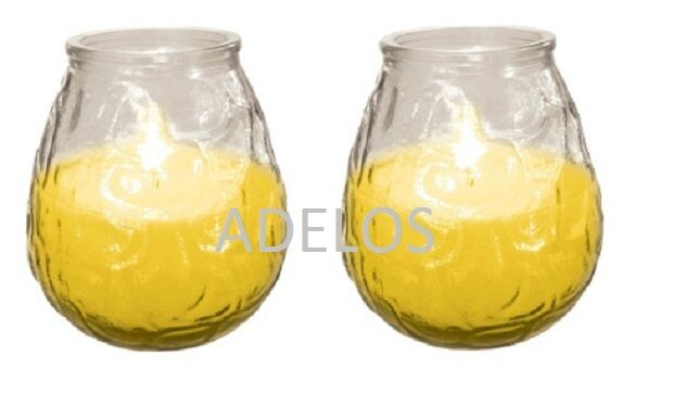 2 x PRICES OUTDOOR CITRONELLA FRAGRANCED GARDEN CANDLE GLASS JAR