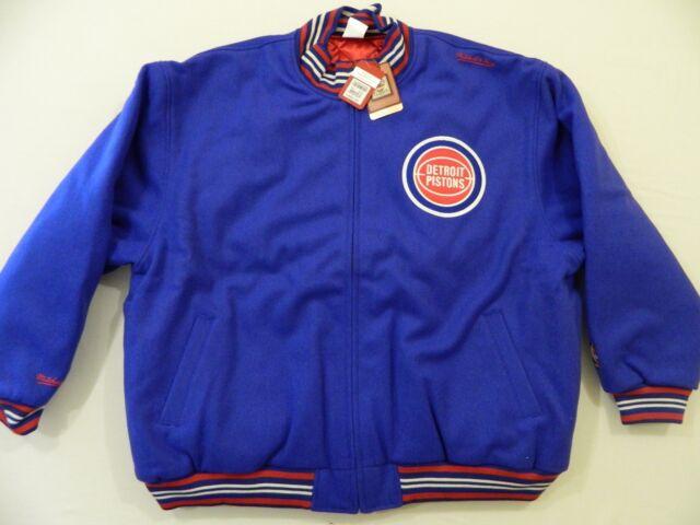 51bb80187c1 M82 Mitchell   Ness Detroit Pistons Wool Coat Jacket 60 4xl Jersey ...