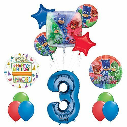 The Ultimate PJ Masks 3rd Birthday Party Supplies and Balloon
