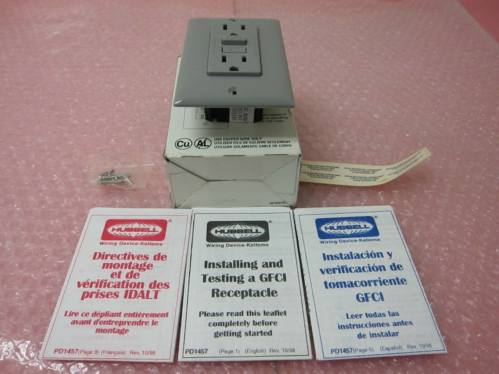 Hubbell Gf5252gy Gfci Ground Fault Circuit Interrupter Ebay How To Test Picture 1 Of 10