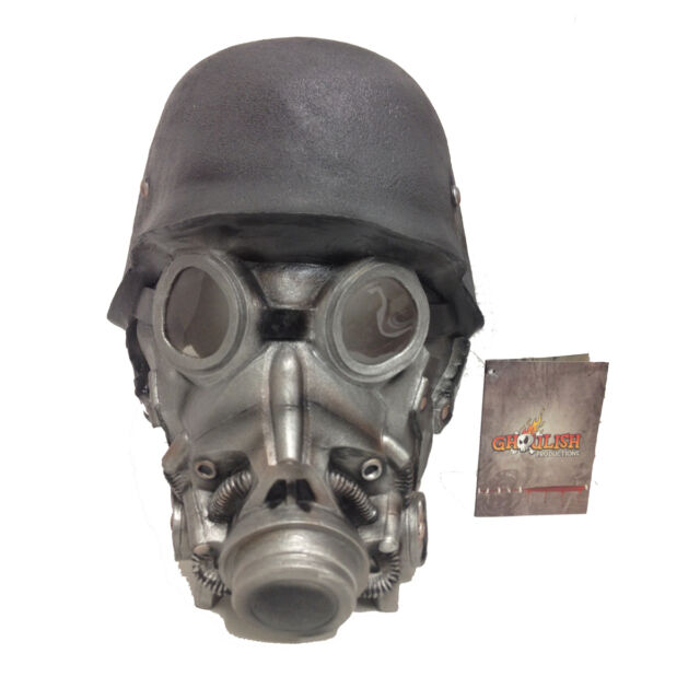 chemical warfare mask costume adult latex gas halloween war soldier robot 26382