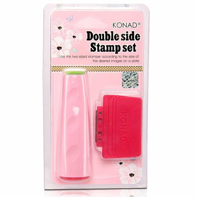KONAD Nail Art Double Ended Stamper and Scraper | eBay