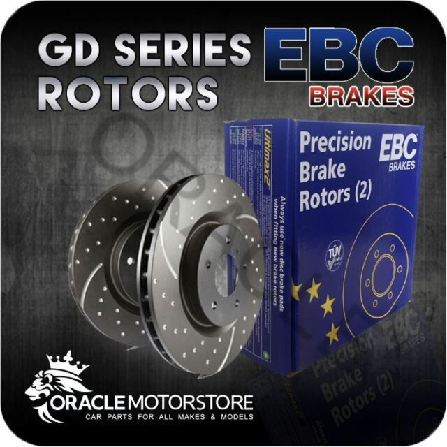 NEW EBC TURBO GROOVE FRONT DISCS PAIR PERFORMANCE DISCS OE QUALITY - GD1113