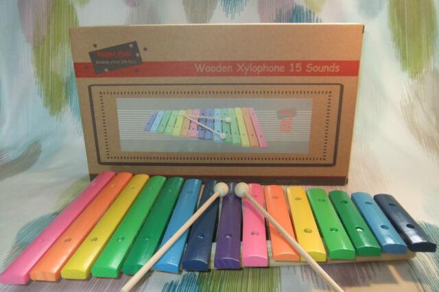 Kaper Kidz Children's Large Wooden 15 toned Xylophone Musical Instrument Toy!