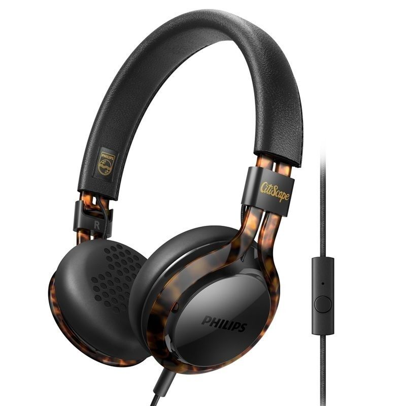 Philips Shl5705bkp CitiScape Frames Headphones With Mic 40mm Drivers ...