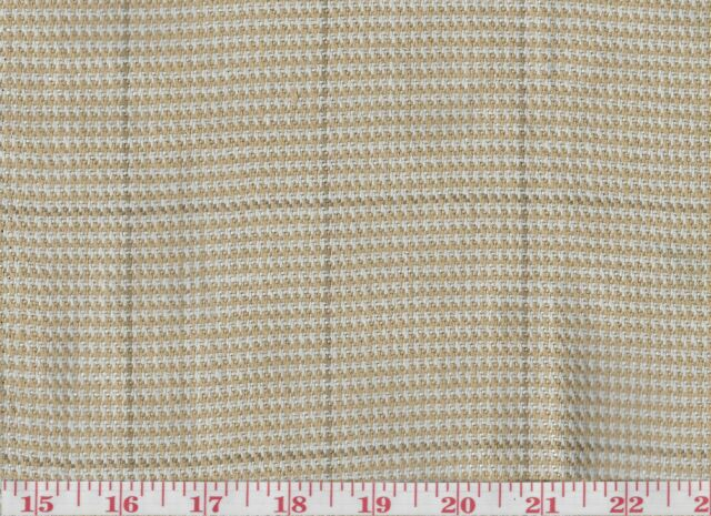 100 Linen Plaid Upholstery Fabric Ralph Lauren R Y Thornwood Tweed Cl Bisque