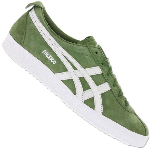 TIGER ONITSUKA ASICS Messico Delegation 66 d6e7l 8301 scarpe sneaker verde pelle