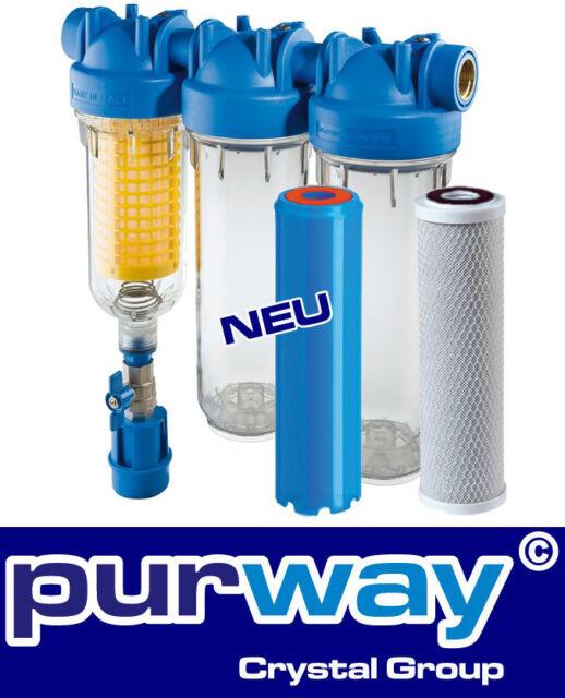 "HYDRA Ironmaster 1"" Set Eisenfilter Brunnenwasserfilter Hauswasserfilter Chlor"
