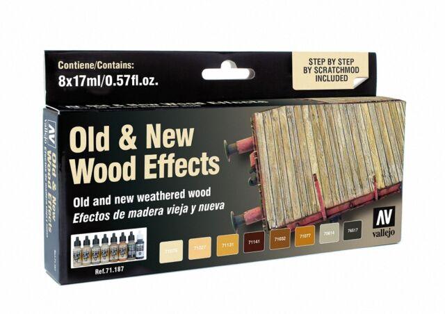 Vallejo BNIB Model Air Set - Old & New Wood Effects VAL71187