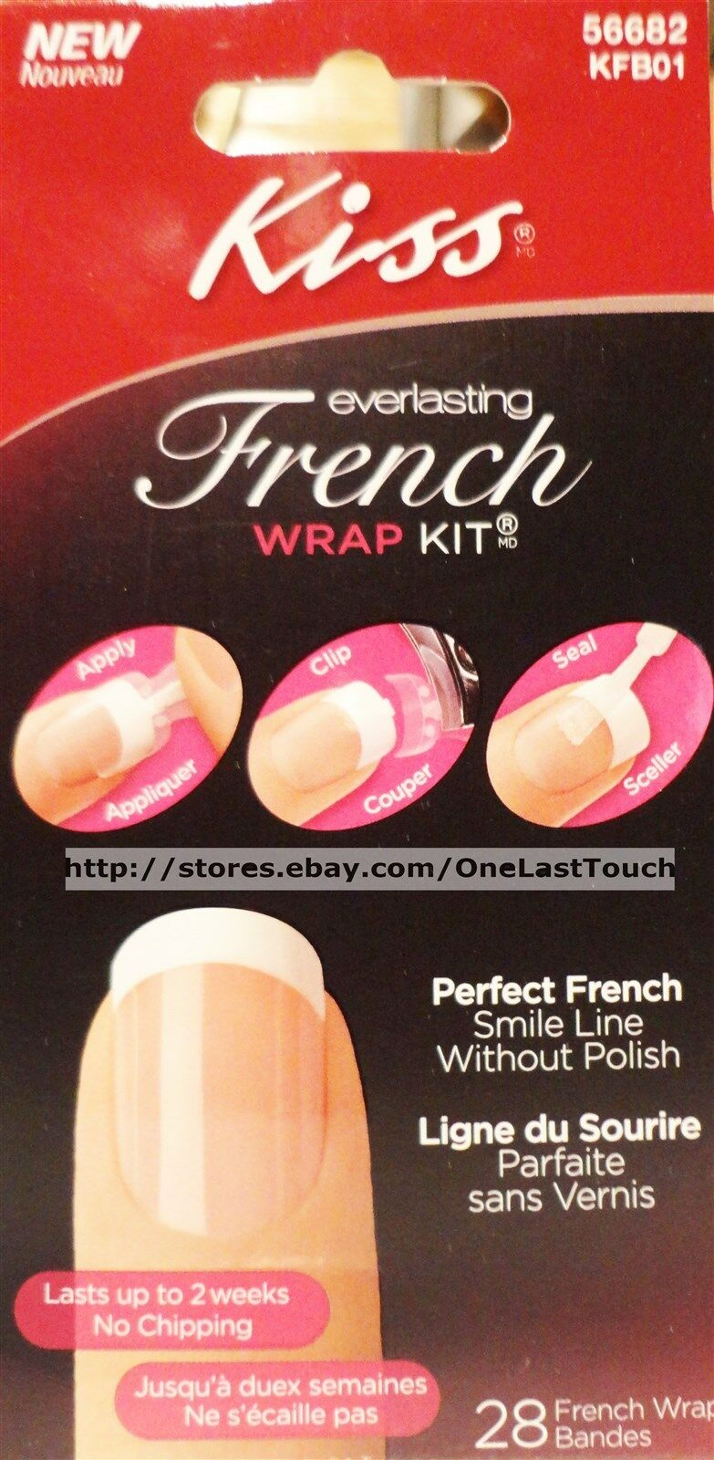 Kiss Everlasting French Wrap Kit 56682 Kfb01   eBay