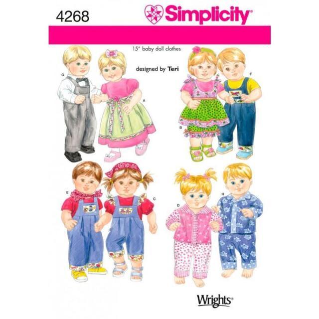 Simplicity Schnittmuster 4268 eine Größe Puppe Kleidung   eBay