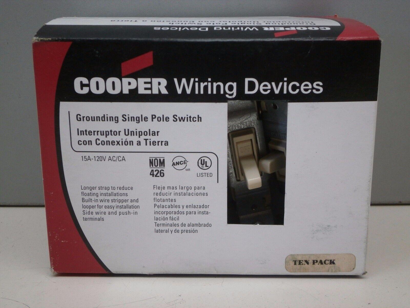 Toggle Light Switch Lights Ideas Ivory Single Pole 6 Cooper 15a 120v 1301 7v