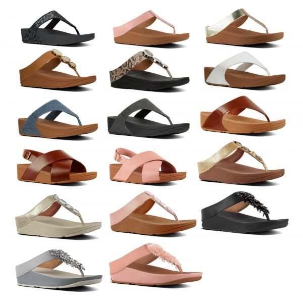c23e190ff3eba4 FitFlop Lulu Leather Womens Toepost Sandals in Deep Plum and Midnight Navy  Uk6 Caramel