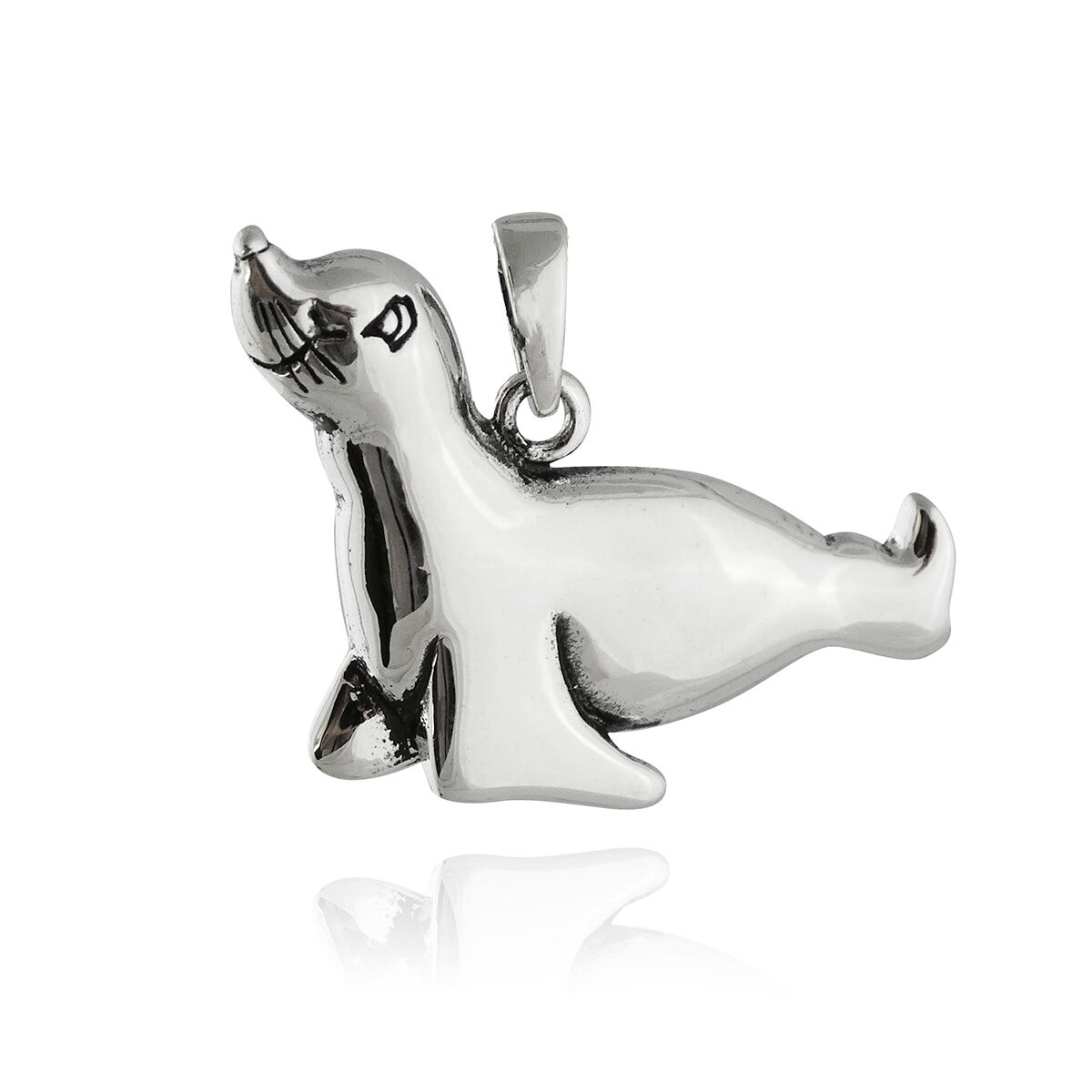 Sea lion pendant necklace 925 sterling silver whimsical marine picture 1 of 1 mozeypictures Image collections