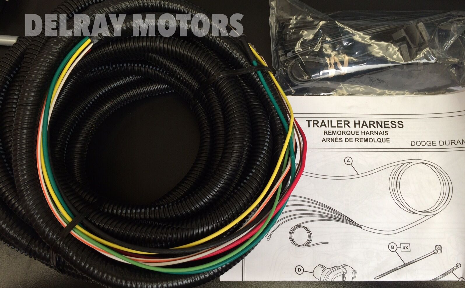 s l1600 oem mopar 7 way connector trailer tow wiring harness 2014 dodge 2015 durango oem tow hitch and wiring harness at gsmx.co