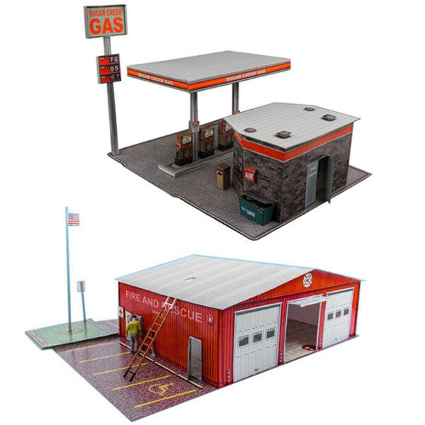 1950s - 1960s BP Gas Station - Laser-Cut Card Kit HO Scale Model ...