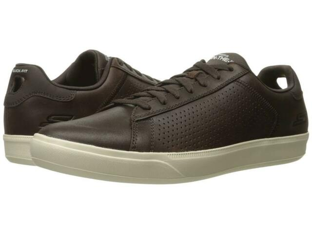 SKECHERS 54323CHOC GO VULC 2 Mns M Chocolate Prem Leather Lifestyle Shoes