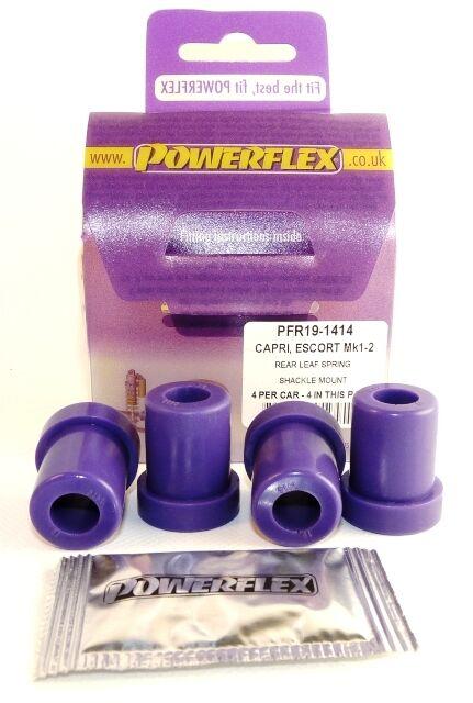 Powerflex Leaf Spring Shackle Mounts PFR19-1414 For Ford Escort Mk1