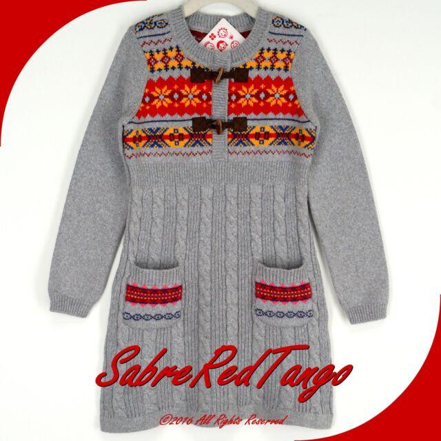 Hanna Andersson Folk-mix Fair Isle Sweater Dress Heather Grey 100 ...