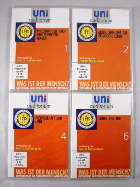 4x Uni Auditorium DVD Paket - Anthopologie Prof.Dr Bordt Hochschule Philosophie
