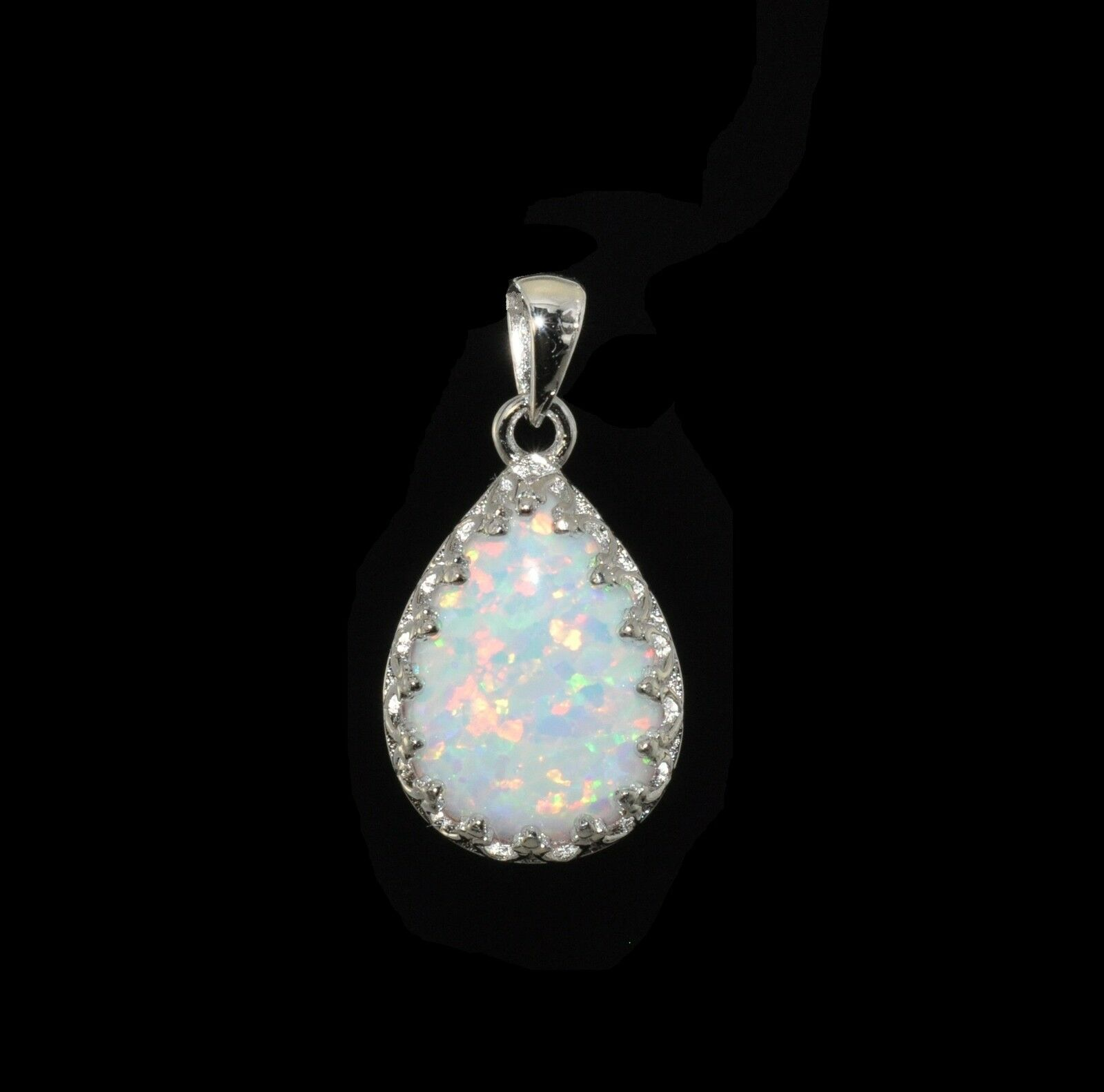 opal product rakuten fire lab shop created women necklace mabellajewelry mabella for blue pendant gift sterling silver