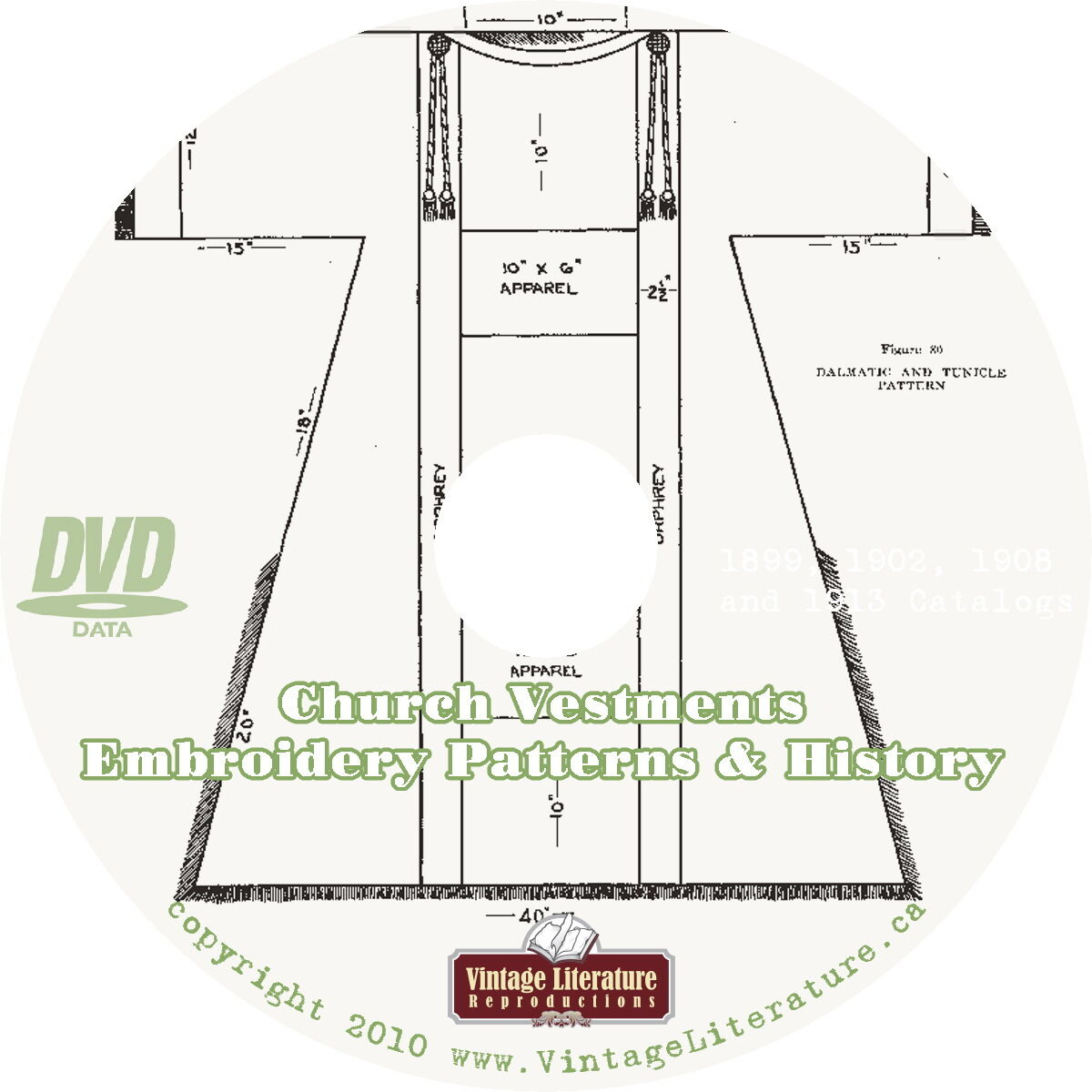 Church vestments eighteen vintage history embroidery pattern picture 1 of 1 bankloansurffo Image collections