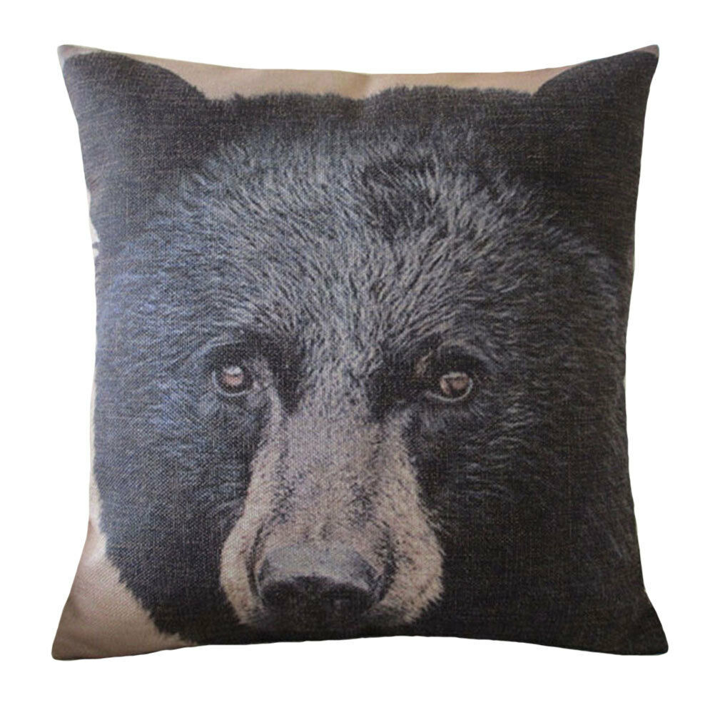Aeneontrue Mountain Bear Printed Throw Pillow Covers Decorative ...
