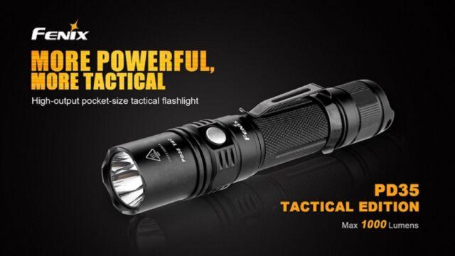 Fenix PD35 Tactical Edition Taschenlampe 1000 Lumen CR123 Cree XP-L V5 LED >>NEU