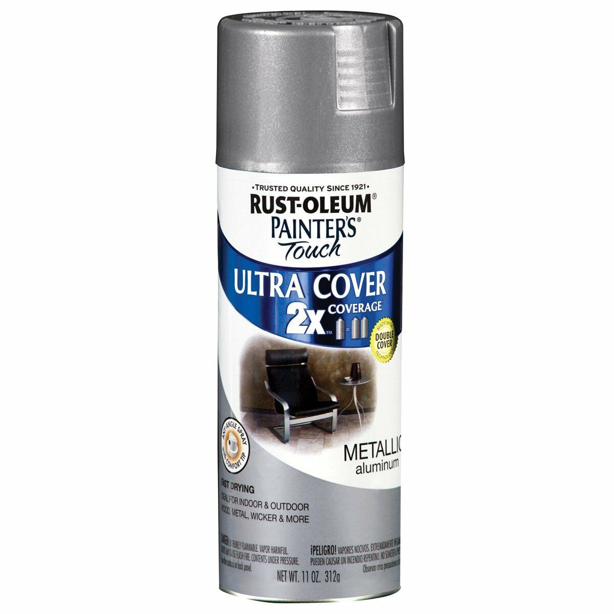 Rust-Oleum Painters Touch 2x Metallic Aluminum Spray Paint ...
