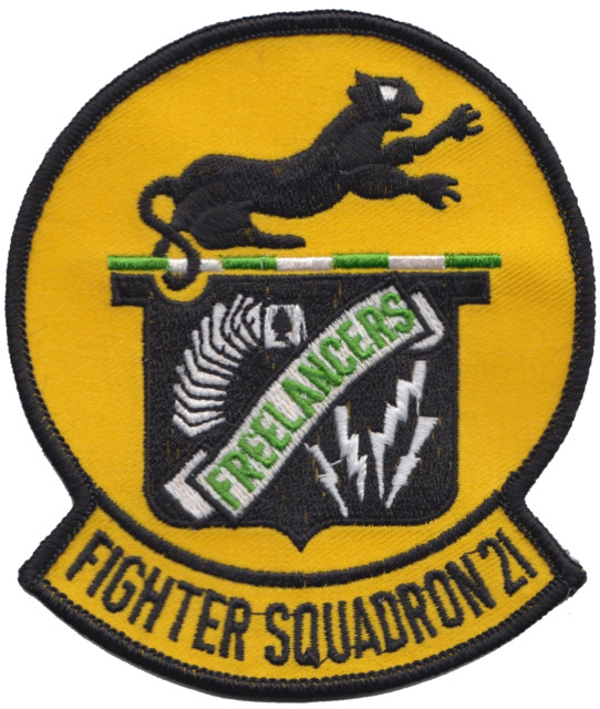 Fighter Squadron 21 Vf 21 United States Navy Usn Embroidered Patch