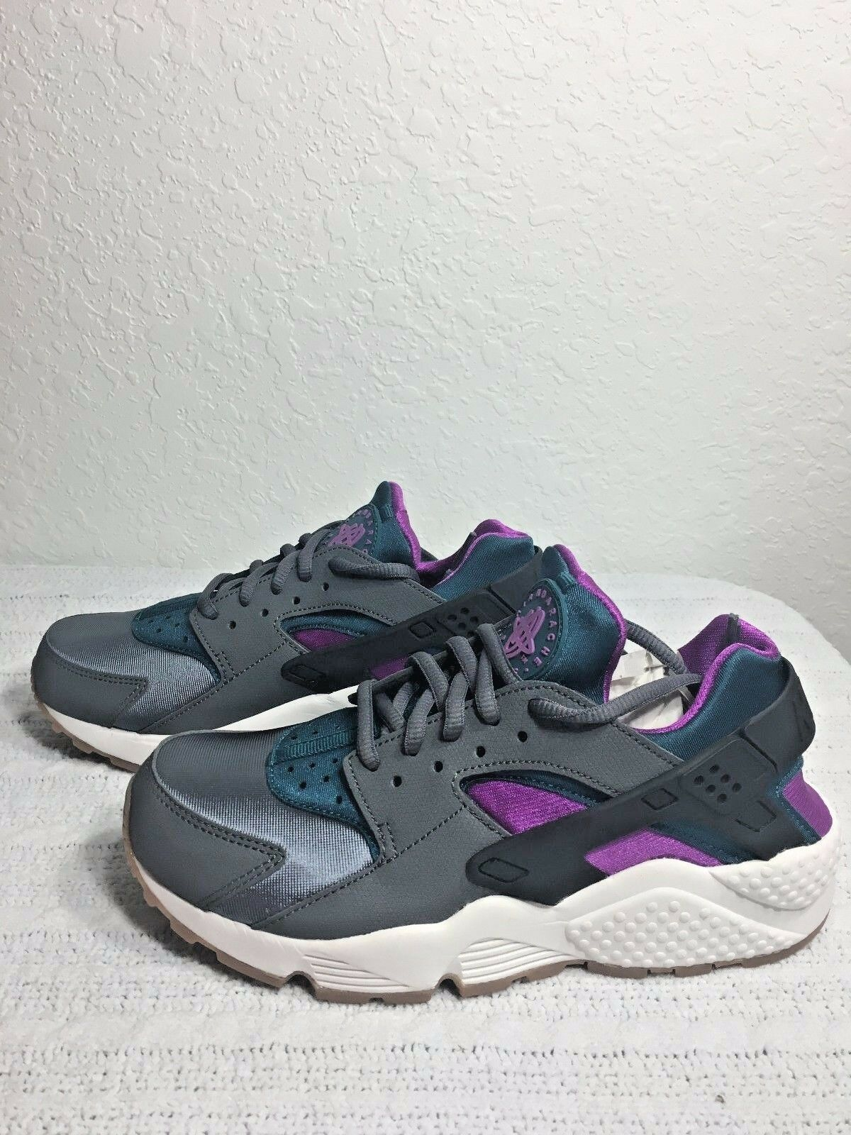 NIKE AIR HUARACHE RUN GREY/TEAL WOMEN SIZE 6.5 NEW 634835 016