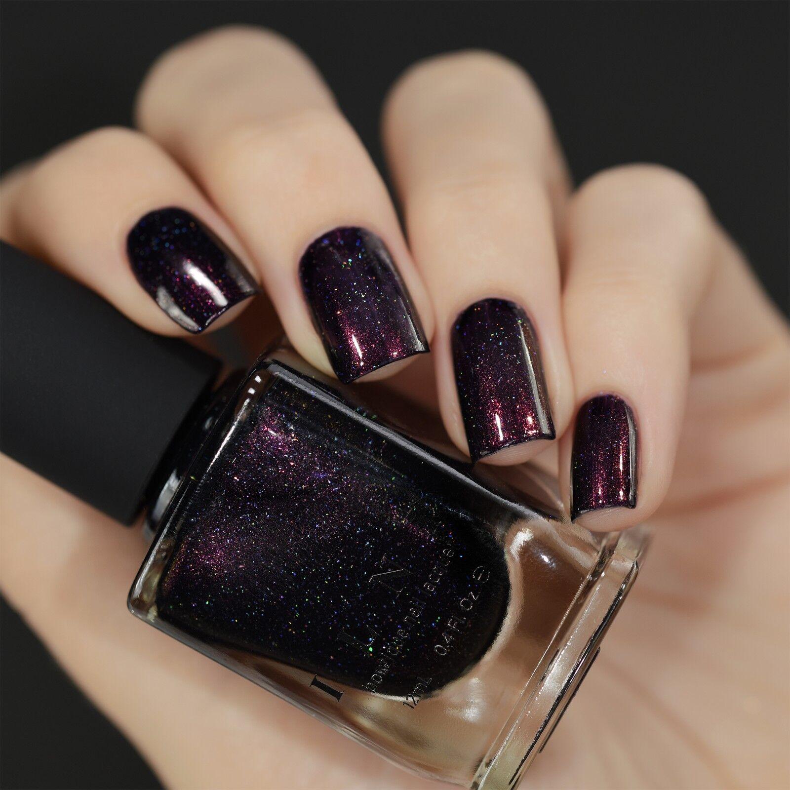 ILNP Mon Amour - Dark Purple Holographic Nail Polish   eBay