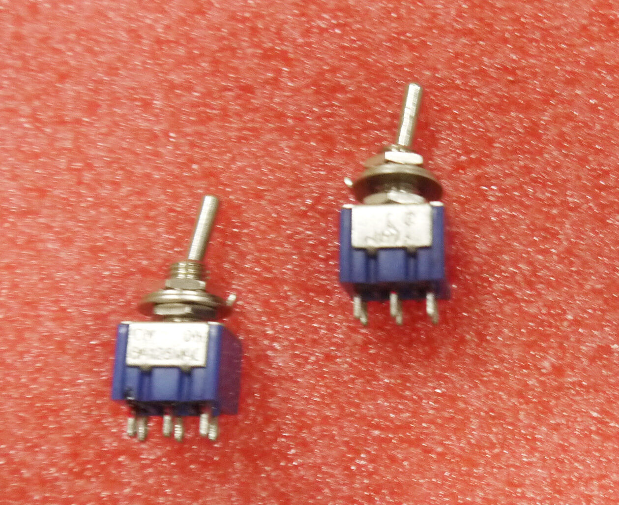 10x Mts 202 Latch Miniature Toggle Switch 6pin On 2 Positions Latching Spst Push Button 1 Circuit 3a 250v Offon Ebay Picture Of
